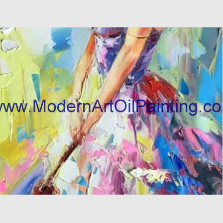 Large Thick Oil Palette Knife Oil Painting  woman canvas Colorful female abstract