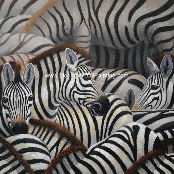 Handmade Abstract Art Canvas Paintings Animal Zebra Print Canvas ...