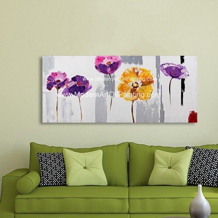 Modern Acrylic Floral Wall Art