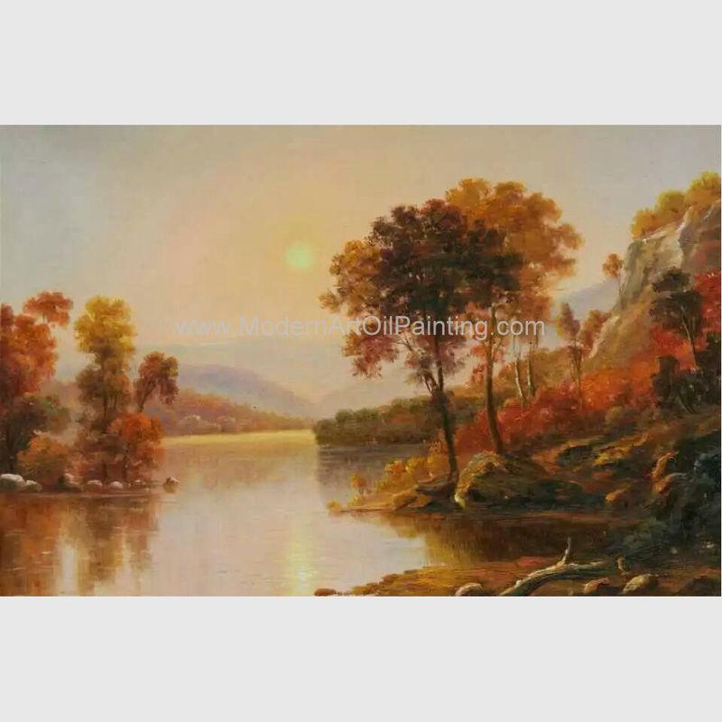 Landscape Supply Co >> River Sunrise Original Oil Landscape Paintings Horizontal 50 cm x 60 cm