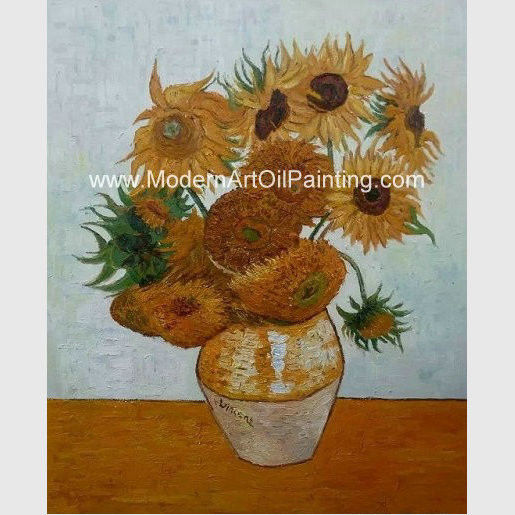 Impressionism Van Gogh Sunflower Painting Reproduction Hand Painted Masterpiece On Linen
