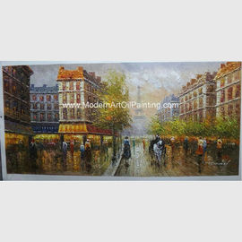 China Paris Street Scene Canvas Painting Customized Size Color For Neo-Classic Style factory