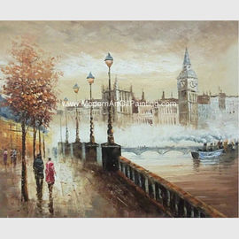 China Colorful Impressionist Painting Paris Street  Landscape Palette Knife Jane Style factory
