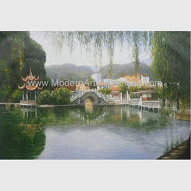 Hand Painted Claude Monet Oil Paintings Chinese Landscape Oil Paintings